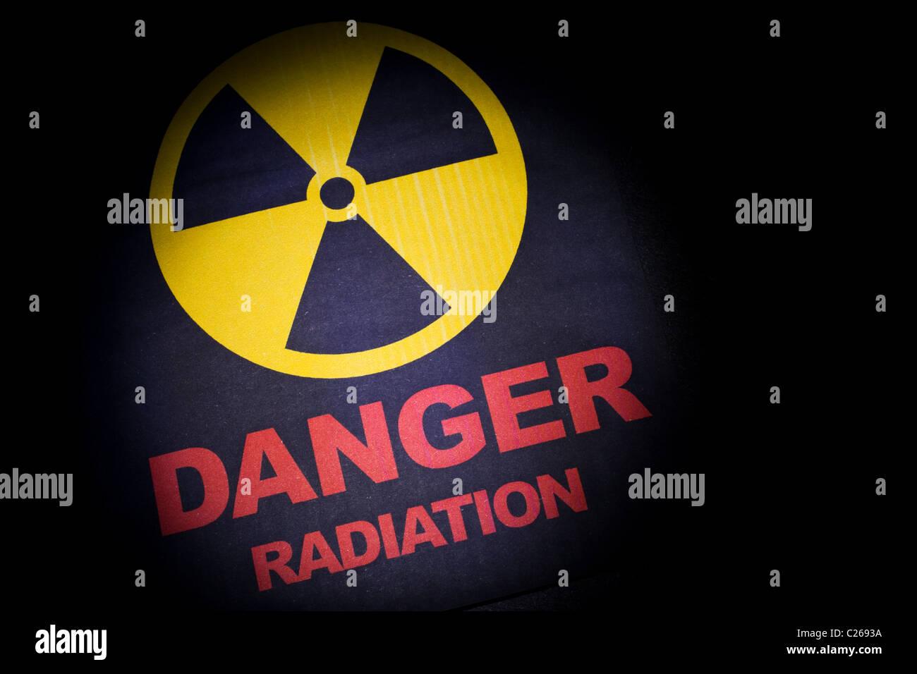 Radiation hazard sign for background Stock Photo