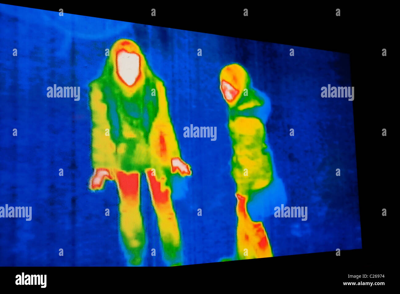 photo of thermal image screen for background - Stock Image