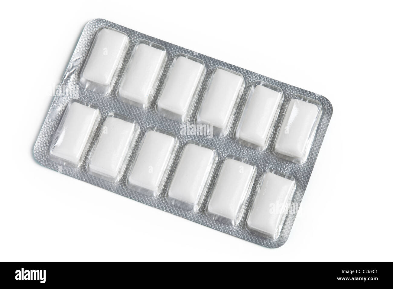 Chewing Gum with white background - Stock Image