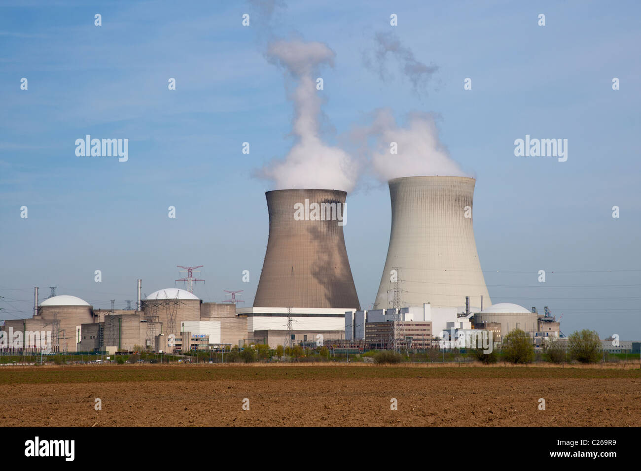Nuclear power plant in Doel, Belgium, close to Antwerp - Stock Image