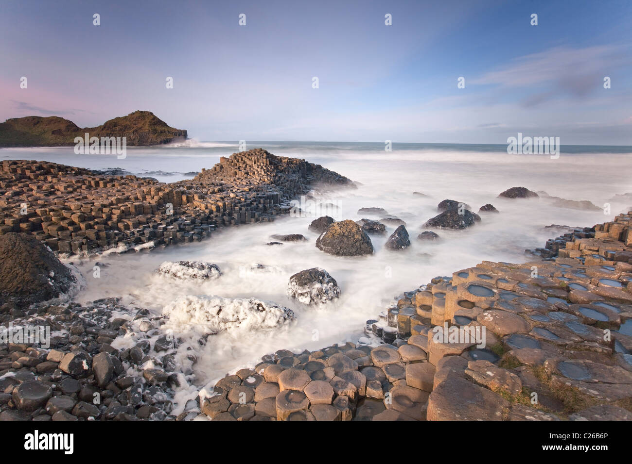 Giants Causeway, Co Antrim. - Stock Image