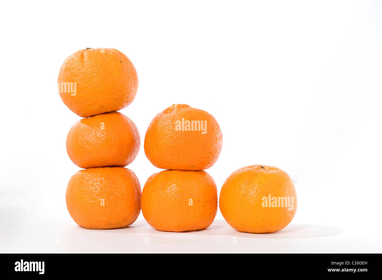 stack of oranges - Stock Image