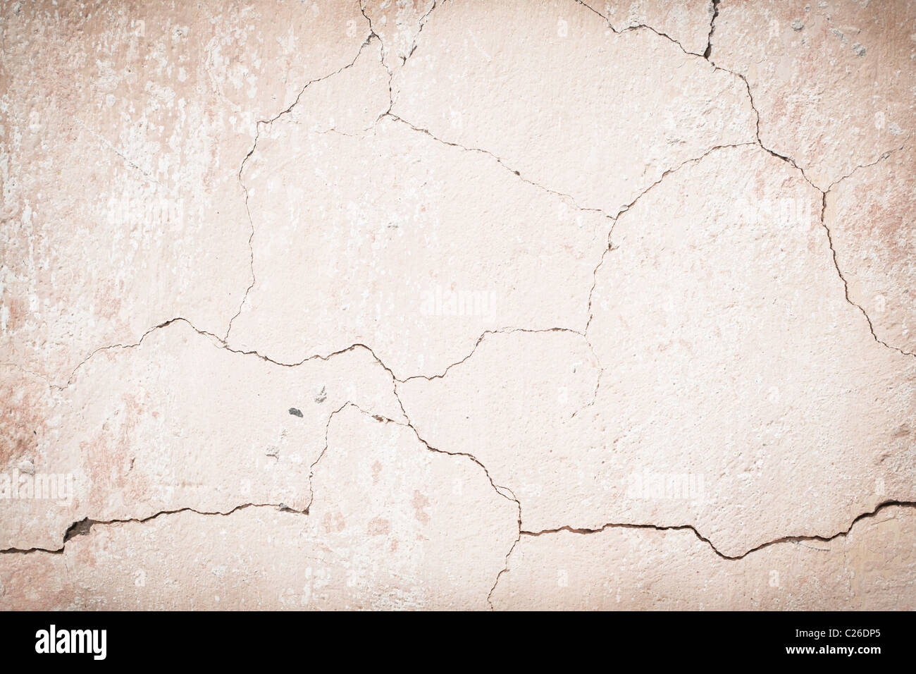 Old cracked wall - Stock Image