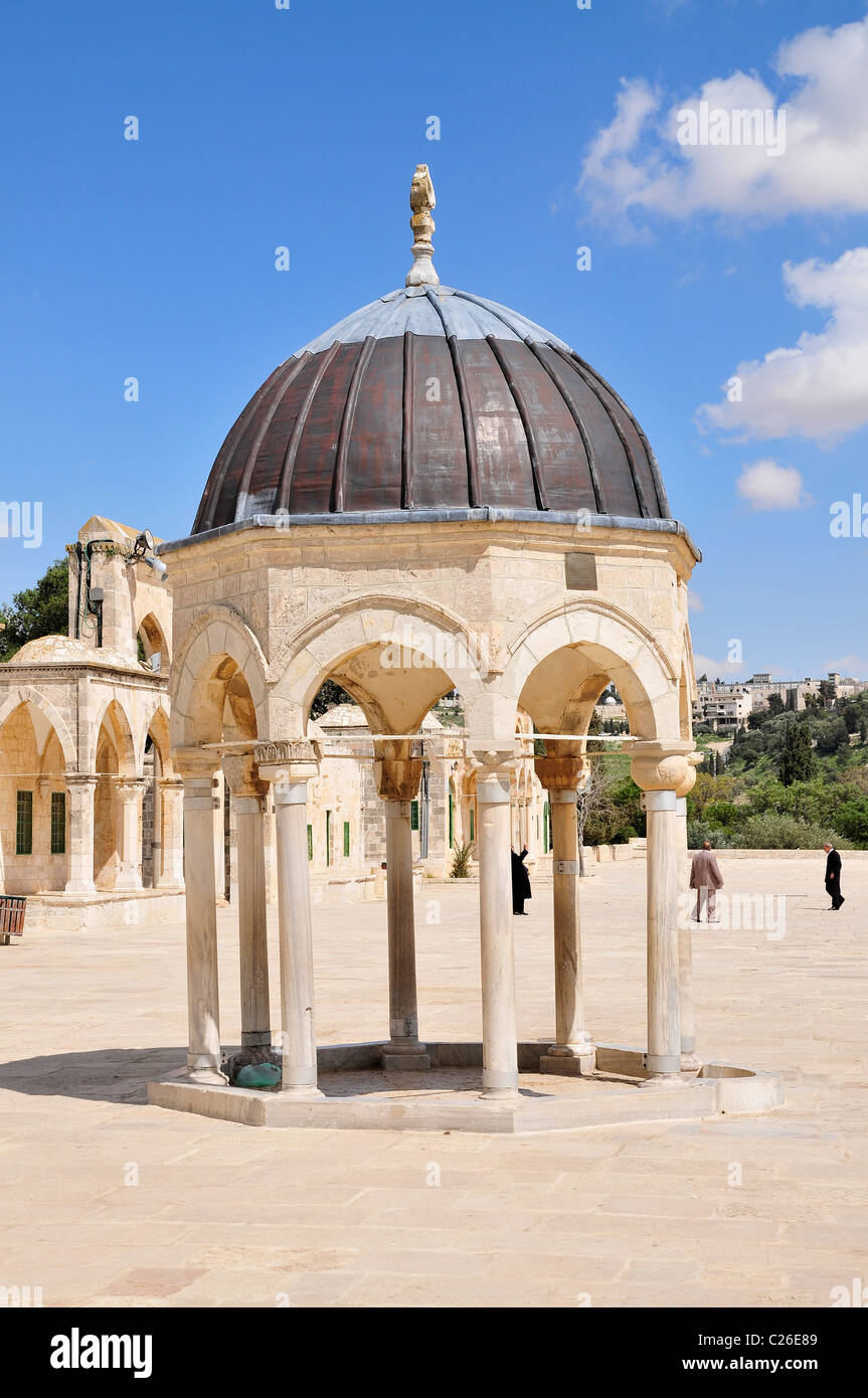 Israel, Jerusalem Old City, a Dome on Haram esh Sharif (Temple Mount) - Stock Image