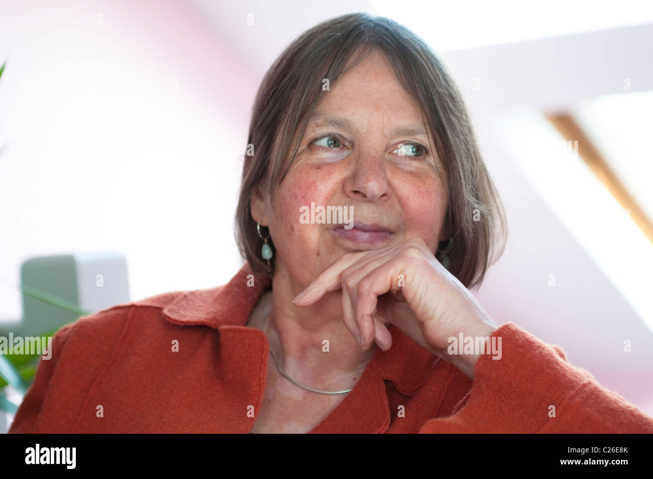 Middle aged woman looking relaxed and happy - Stock Image