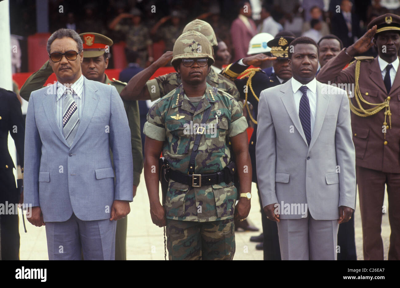 Samuel Kanyon Doe was the 21st Monrovia President of Liberia, 1983 1980s Africa - Stock Image