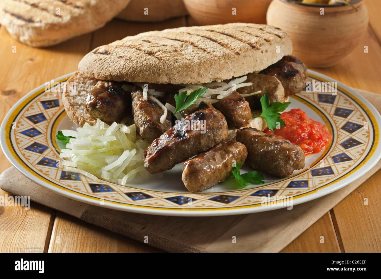 Cevapcici. Popular food Balkans - Stock Image
