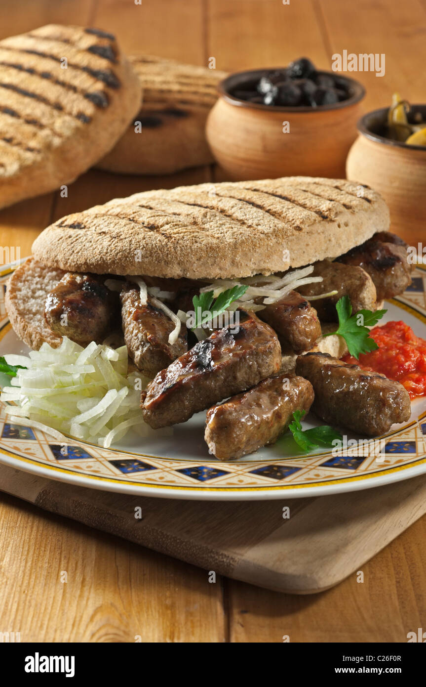Cevapcici. Popular food Balkans - Stock Image