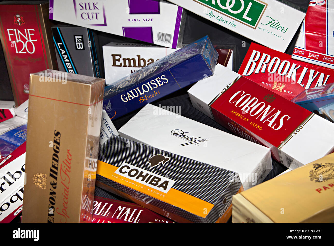 Cost one pack Bond cigarettes