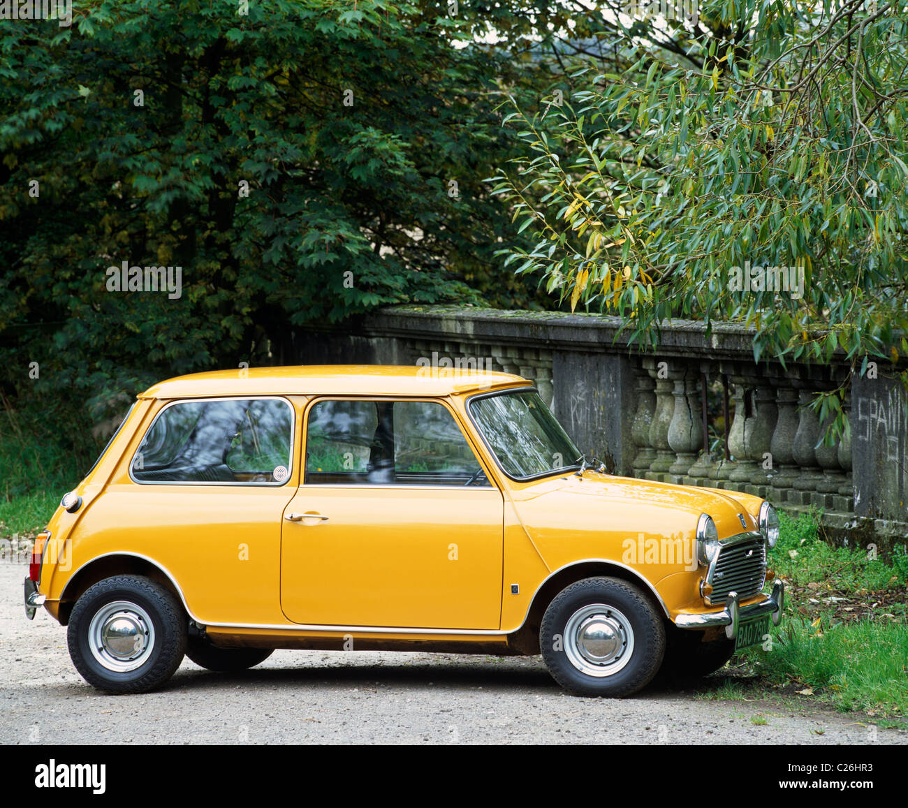 Yellow Mini Cooper S MKIII, 1971 Stock Photo: 35795735