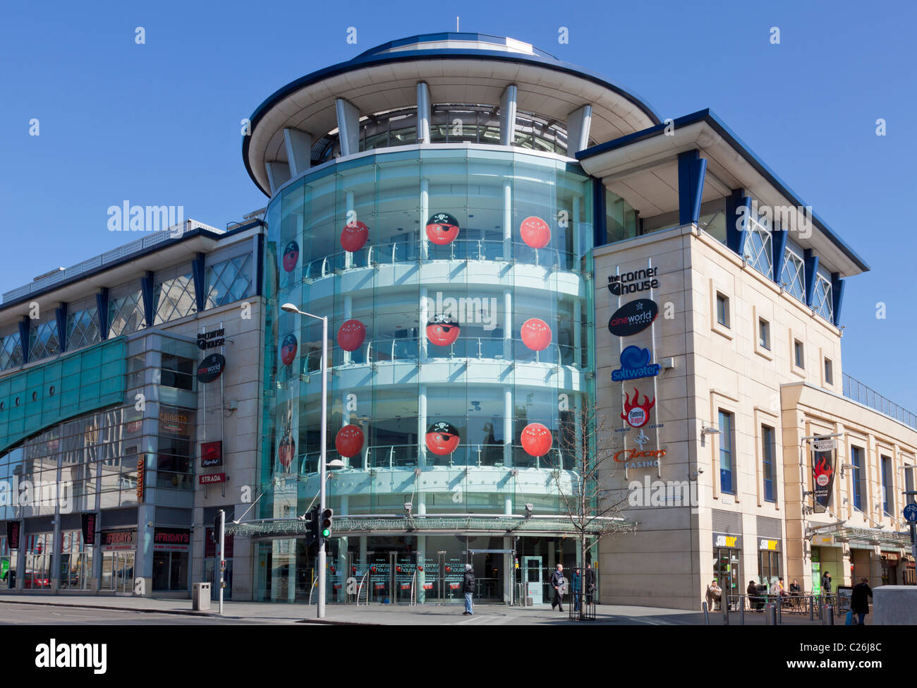 The Cornerhouse is leisure complex in the city centre of Nottingham, England UK GB EU Europe - Stock Image