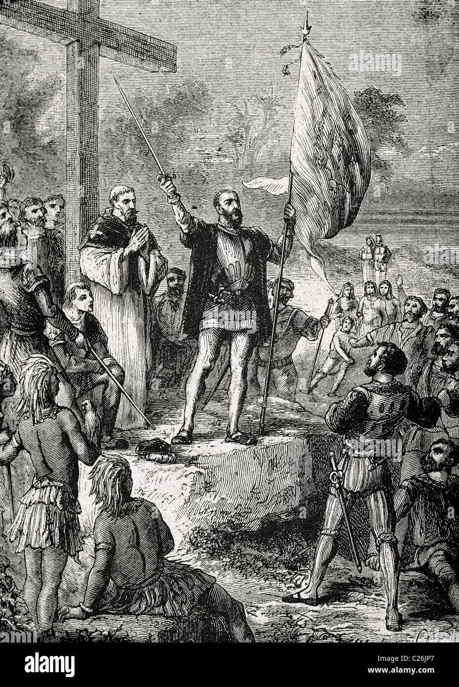Pedro Alvares Cabral (ca.1467-1520). Cabral took possession of Brazil. - Stock Image