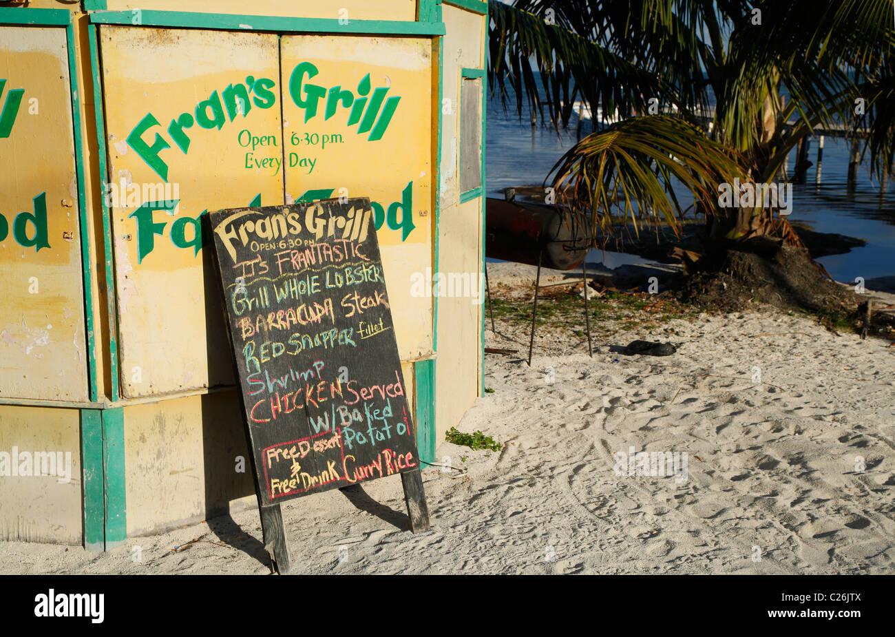Beach Restaurant On Caye Caulker Island Belize Stock Photo 35796570