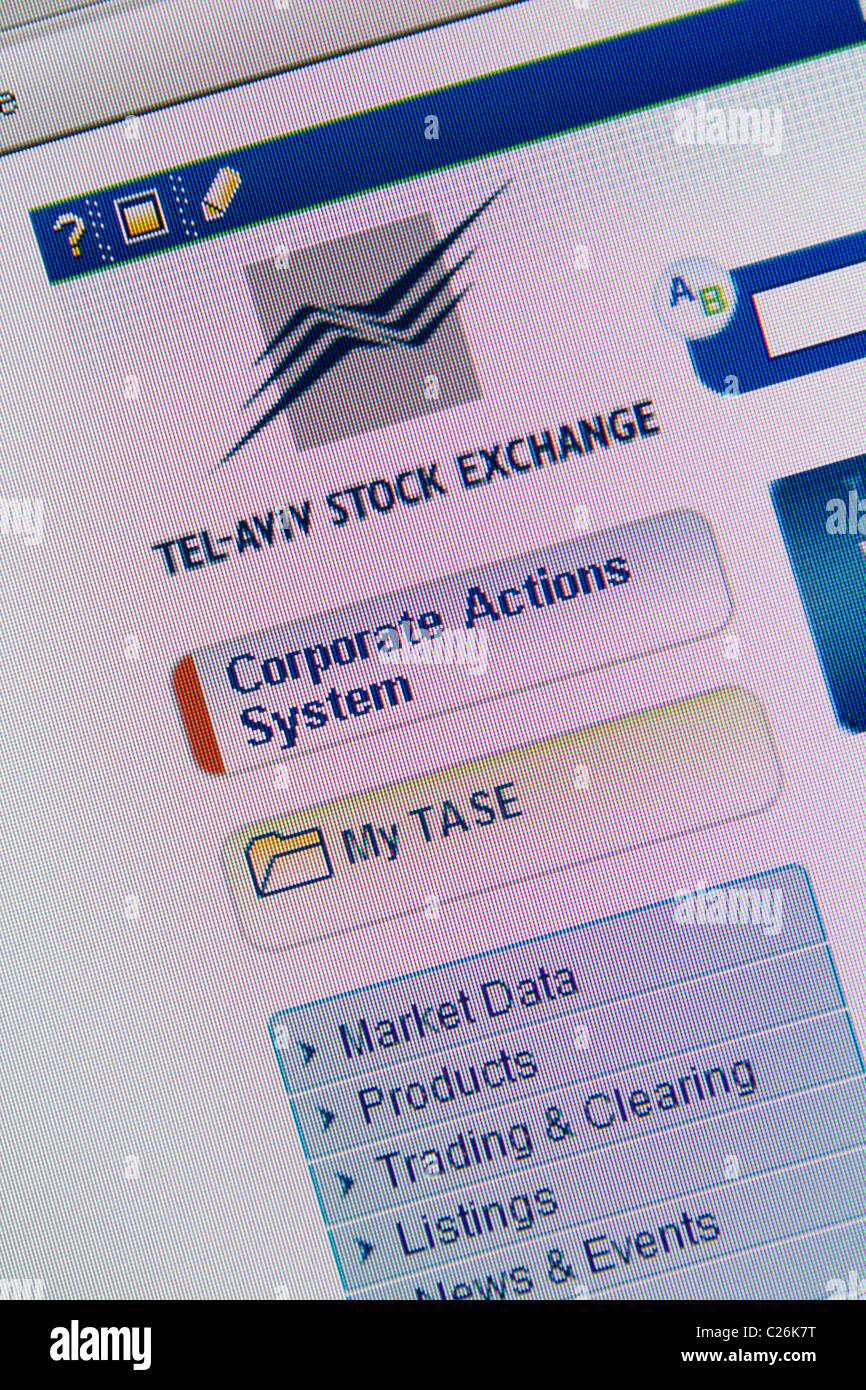 tel-aviv stock exchange website - Stock Image
