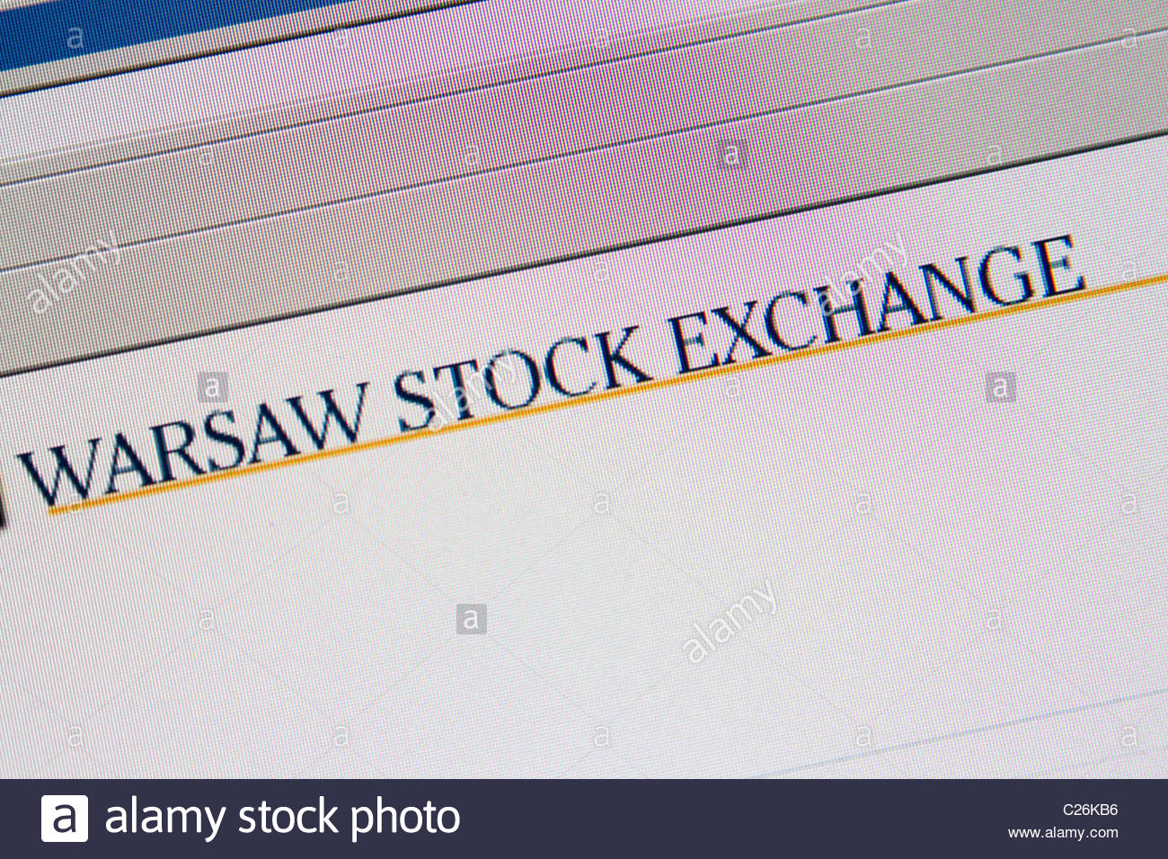 warsaw stock exchange online - Stock Image