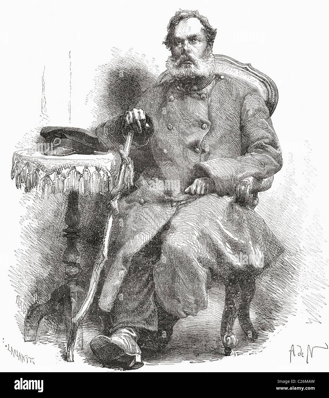 Nikolai Sazontovich Ilyin, 1809 to 1890. Russian  military officer, writer and religious thinker. - Stock Image