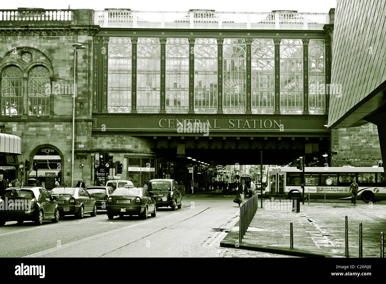Glasgow central train station - Stock Image