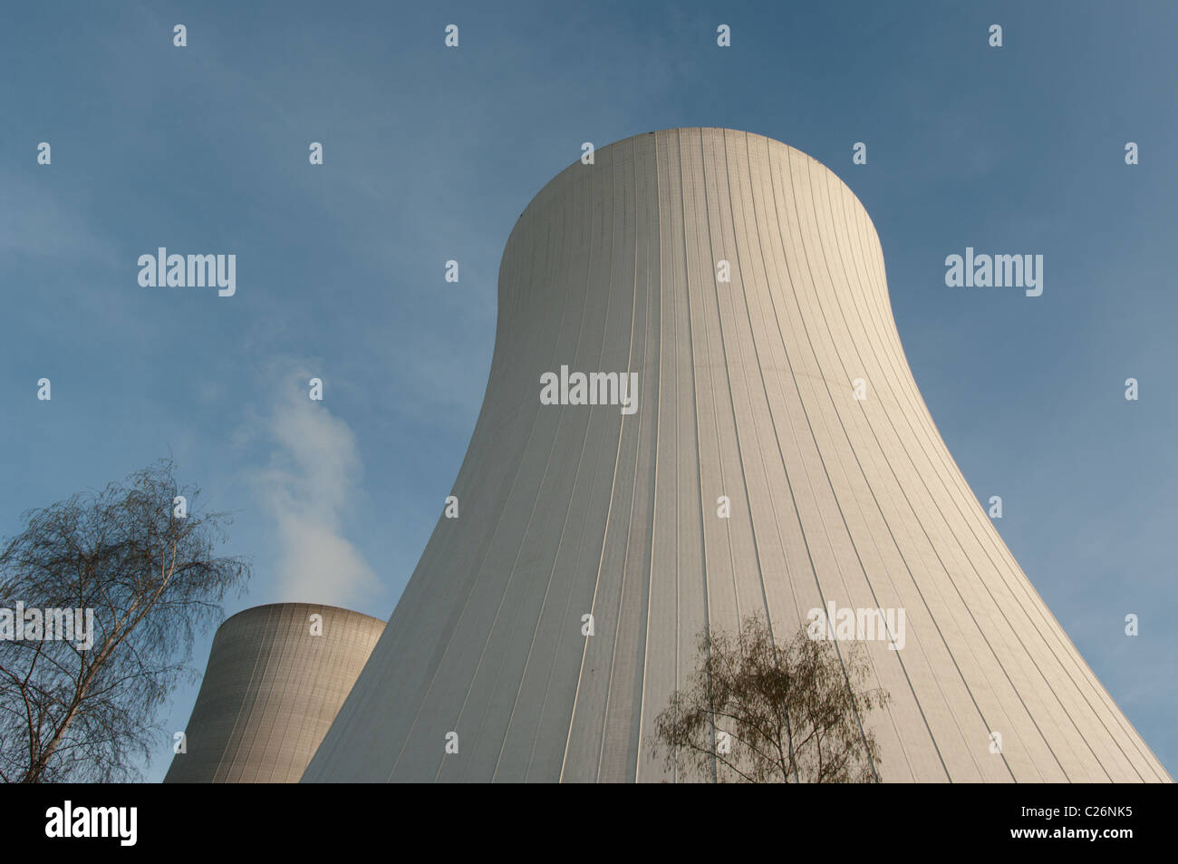 Cooling Tower of an atomic Power Plant - Stock Image