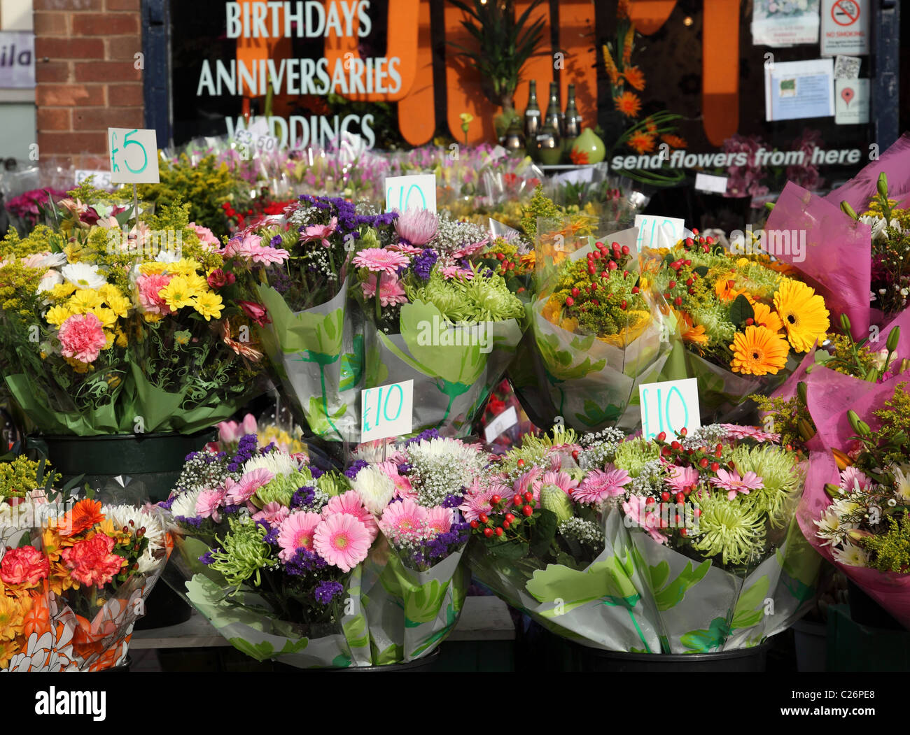 Flowers For Sale At A Florist In The Uk Stock Photo 35799408 Alamy