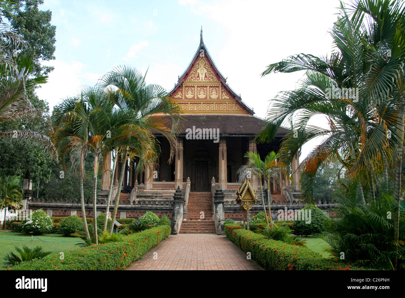 """Haw Pha Kaew in Vientiane, once home to the """"Emerald Buddha"""" - Stock Image"""