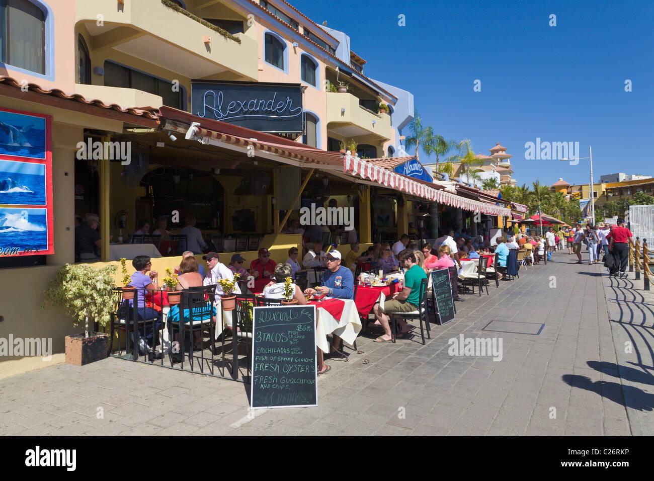 Restaurants At Cabo San Lucas Baja California Mexico Stock