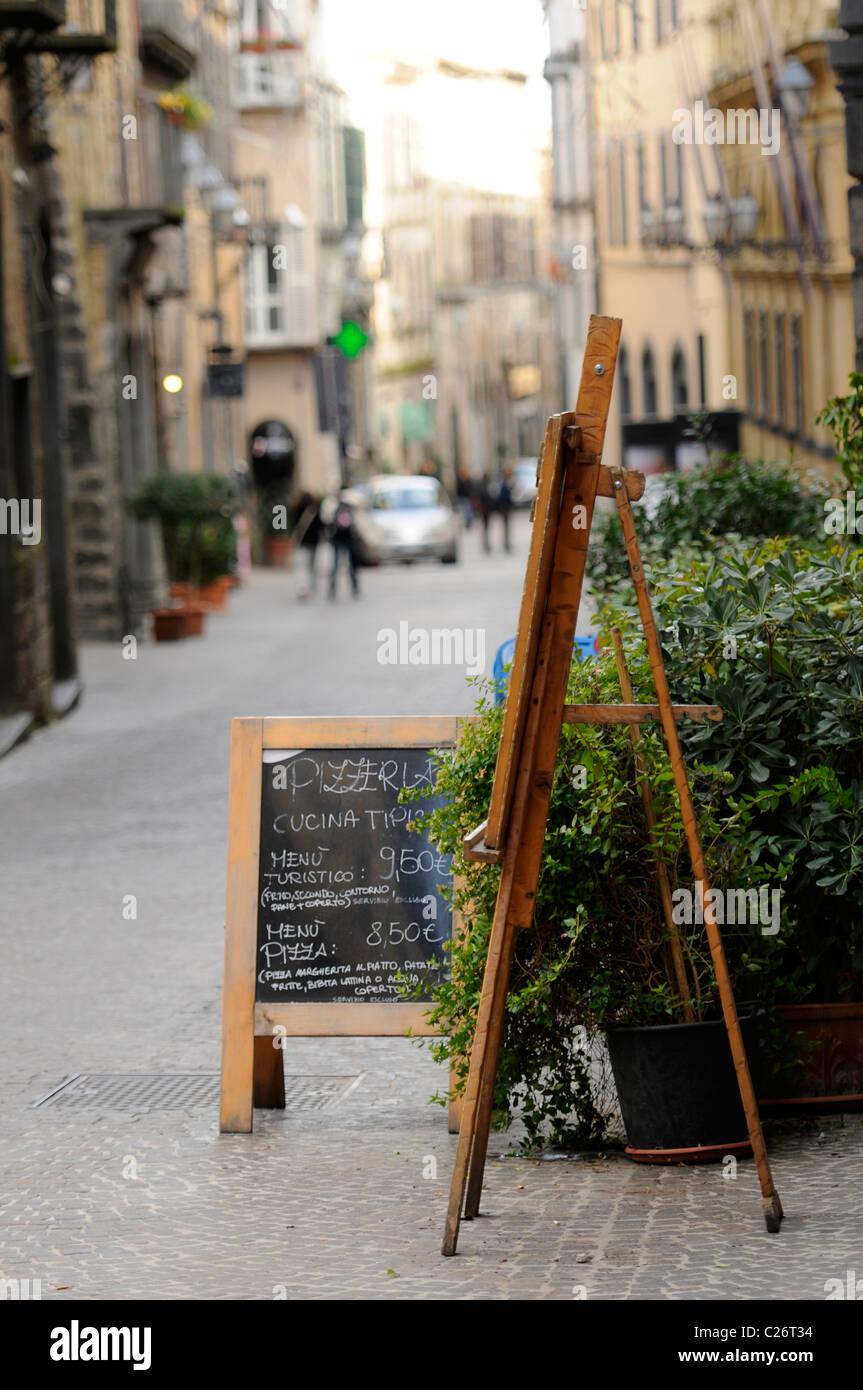 Blackboard menu outside restaurant stock photos blackboard menu outside restaurant stock - Pizzeria venecia marbella ...