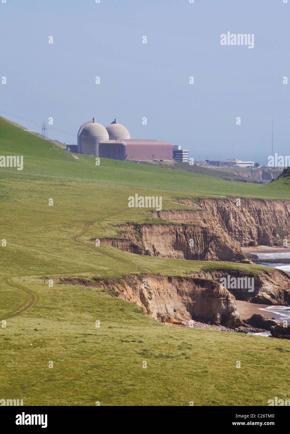 Diablo Canyon Nuclear power station (Diable Canyon Nuclear power plant) - Central California USA - Stock Image
