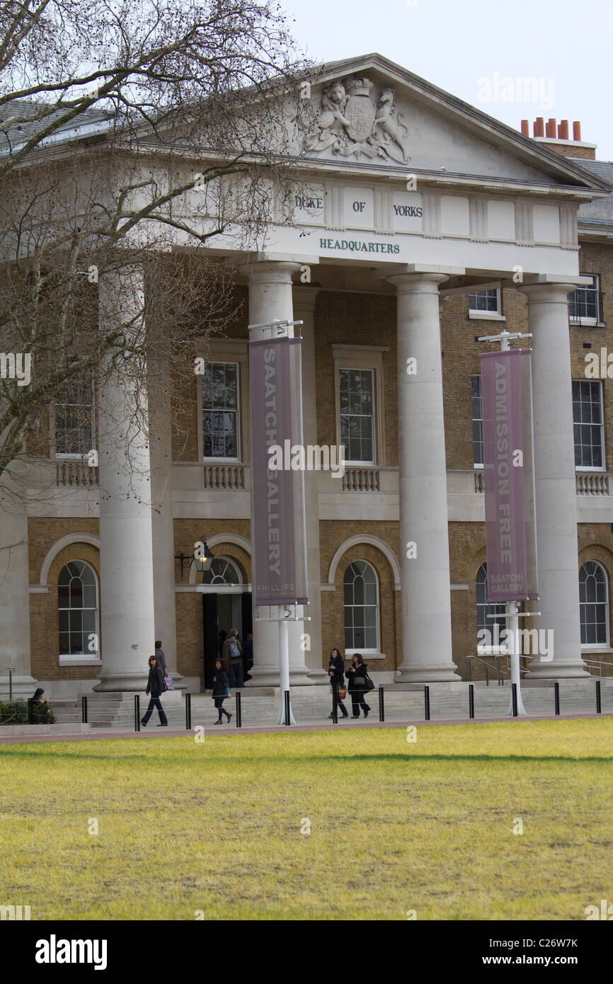 Saatchi Gallery, Duke of yorks headquarters London - Stock Image