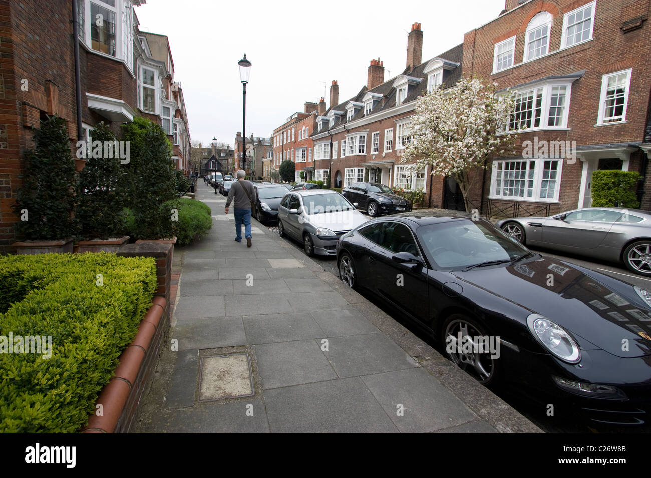 Mallord street chelsea one of the most expensive streets in London - Stock Image