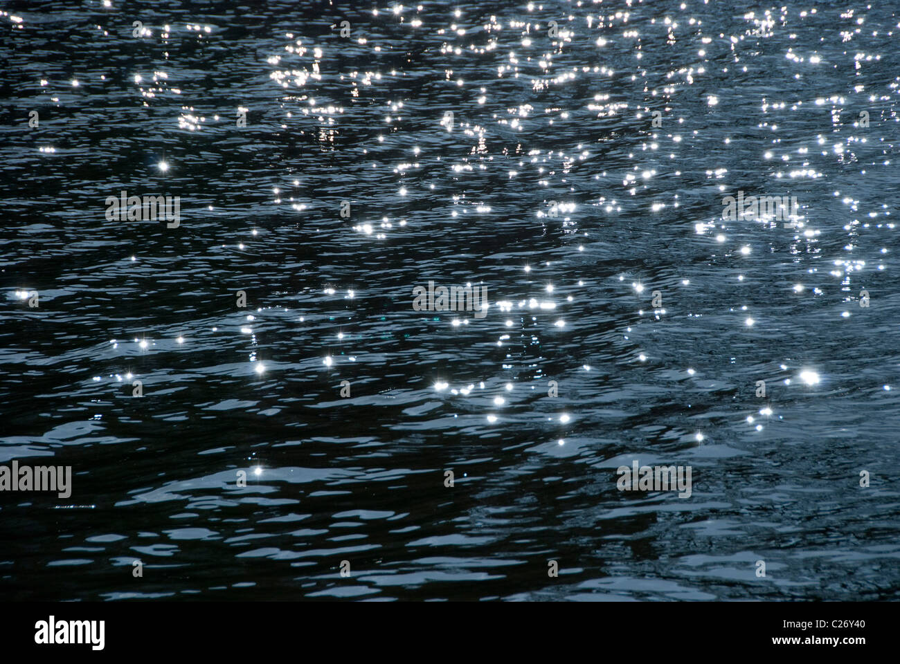 water glimmering - Stock Image