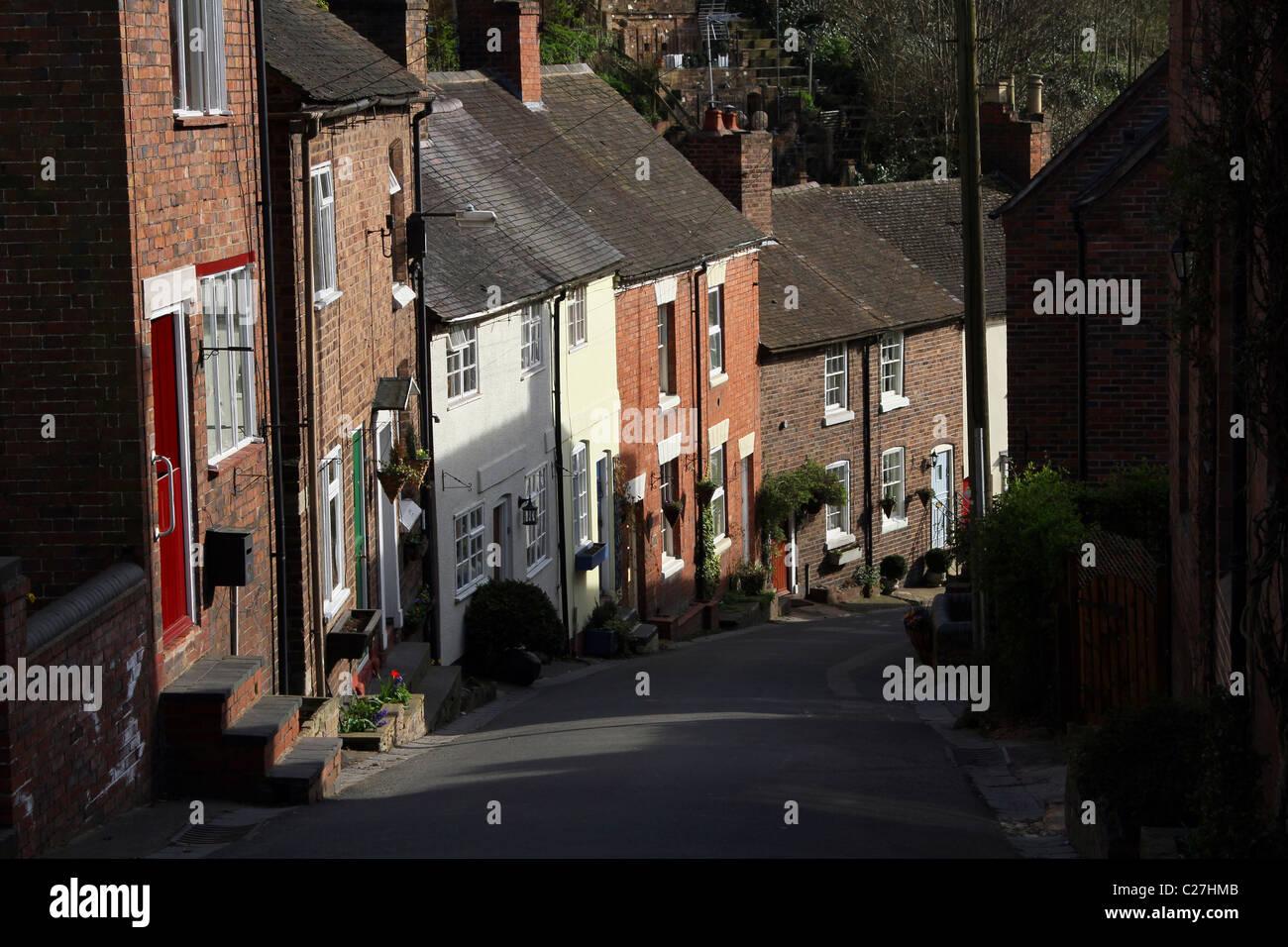 Bridgnorth Railway Street Shropshire - Stock Image
