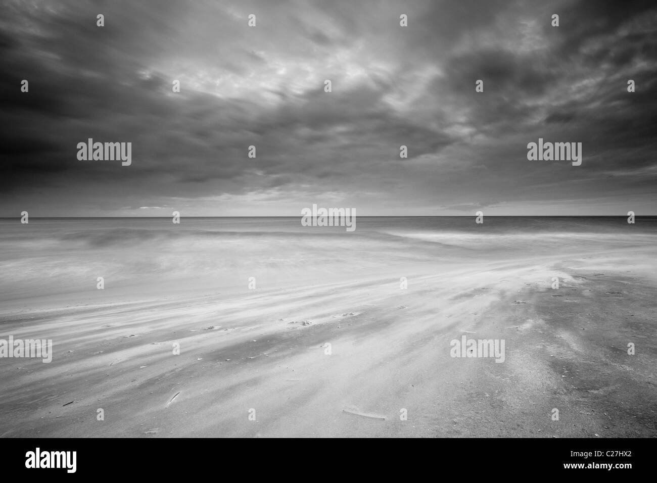 Sandstorm at Punta Chame, Pacific coast, Panama province, Republic of Panama. - Stock Image