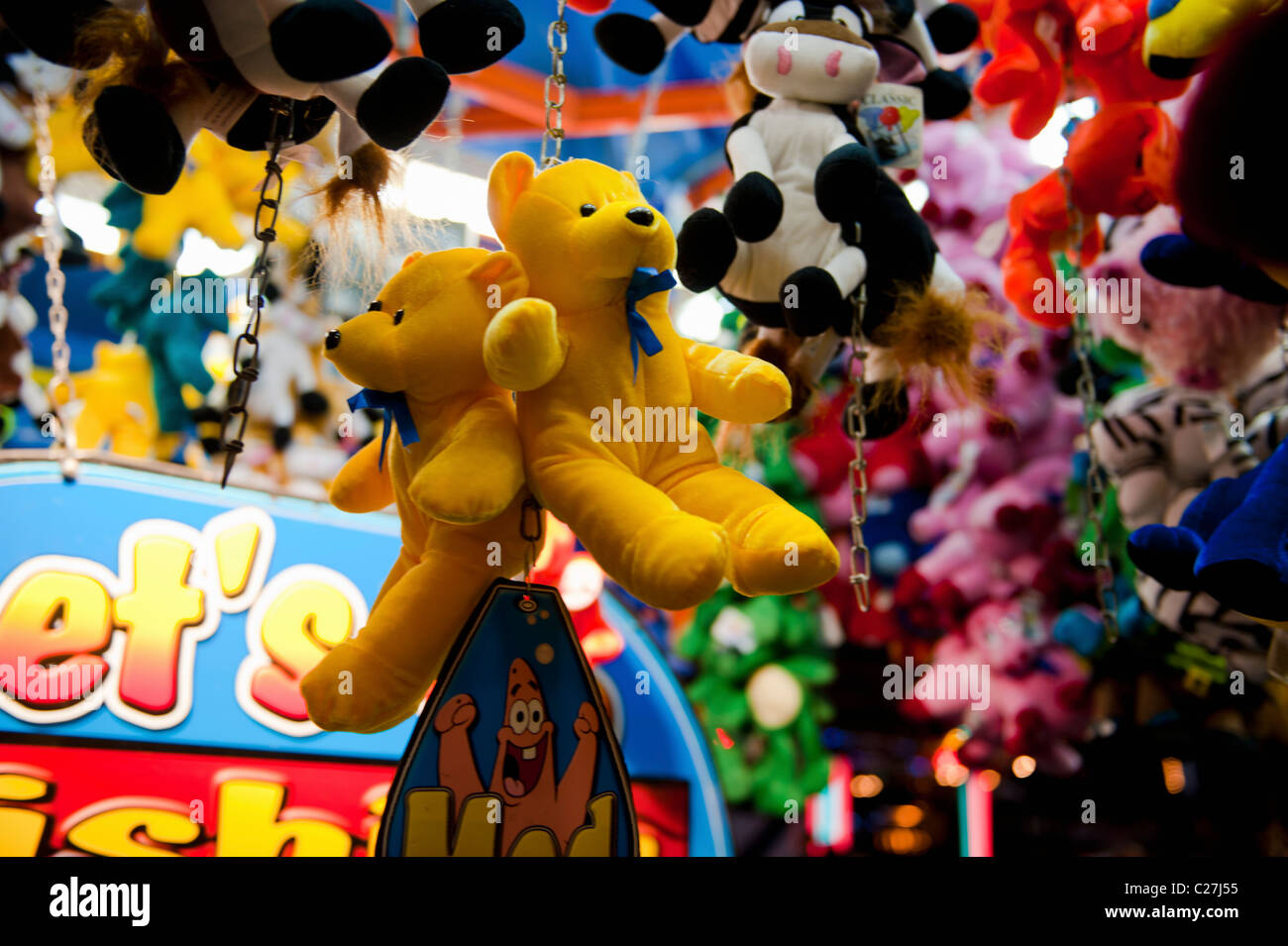 Carnival Game With Teddy Bear Prizes Stock Photo 35817969 Alamy