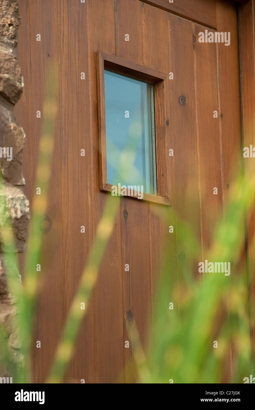 Wooden Back Door Stock Photos Images Alamy Framed Doors Over Fuse Box Small Glass Pane In A Image