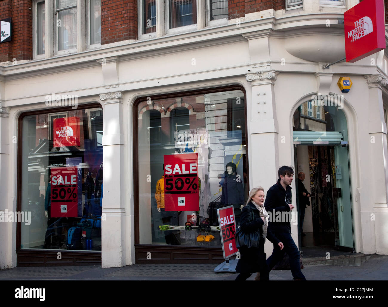 a1bfe11d0 Branch of The North Face outdoor clothing store, London Stock Photo ...