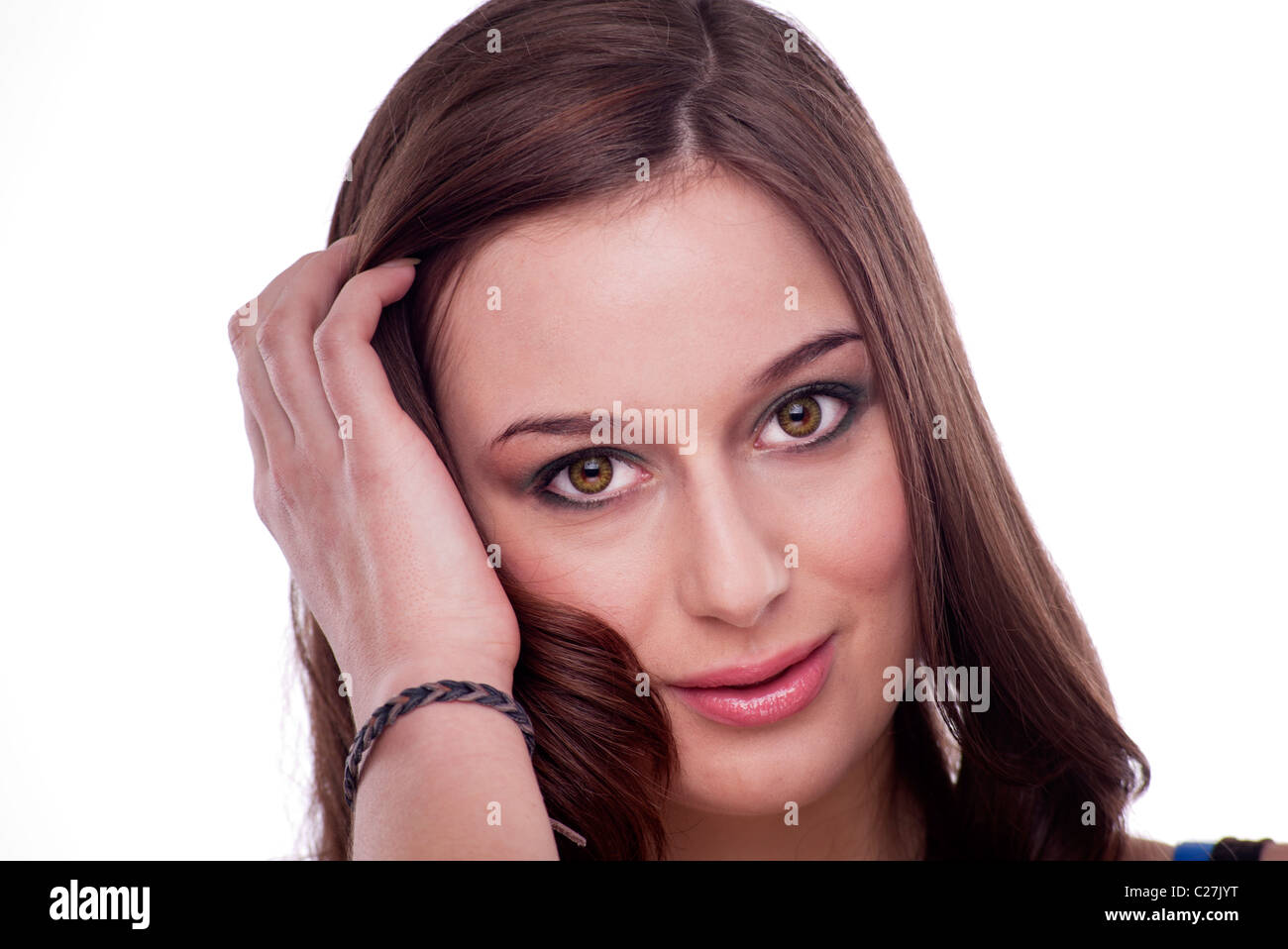 Hair Behind Ear High Resolution Stock Photography And Images Alamy