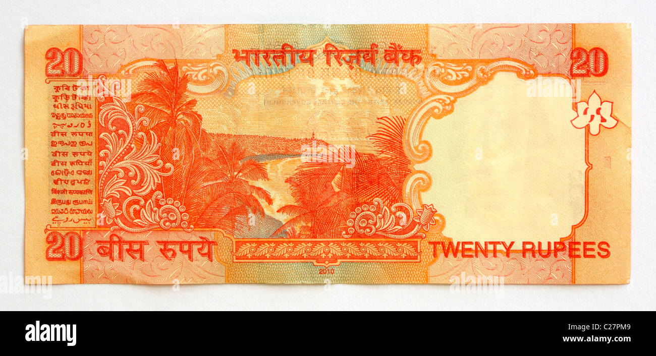 20 Rupee Note Stock Photos & 20 Rupee Note Stock Images - Alamy
