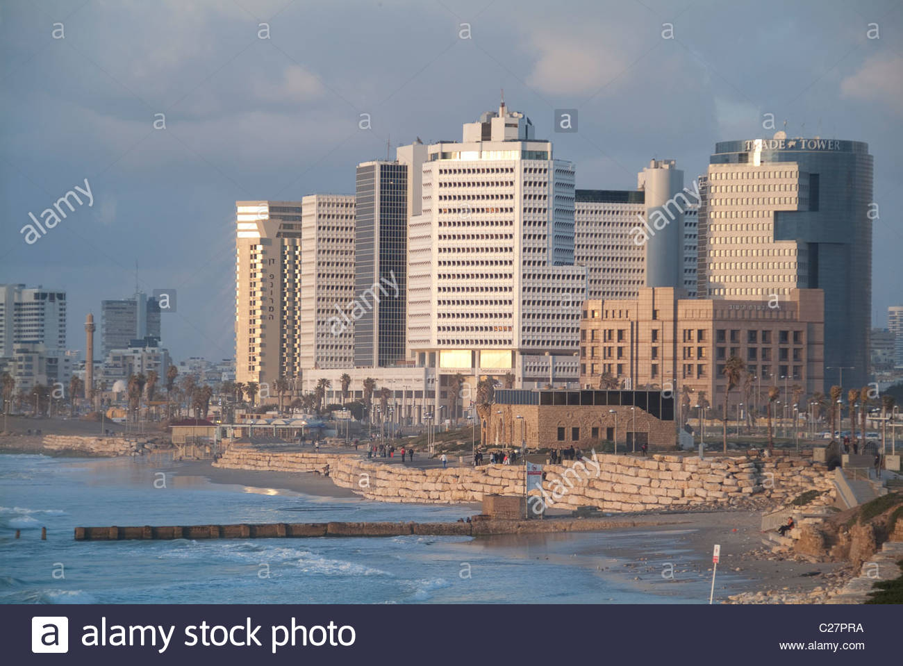Tel Aviv skyline from the Jaffa neighborhood. - Stock Image