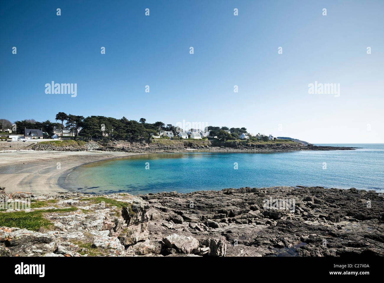 Port Navalo, near Arzon, Presqu'île de Rhuys, Gulf of Morbihan, Brittany, France, Europe - Stock Image