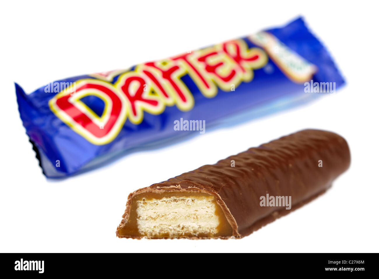 Halved Drifter chocolate biscuit - Stock Image