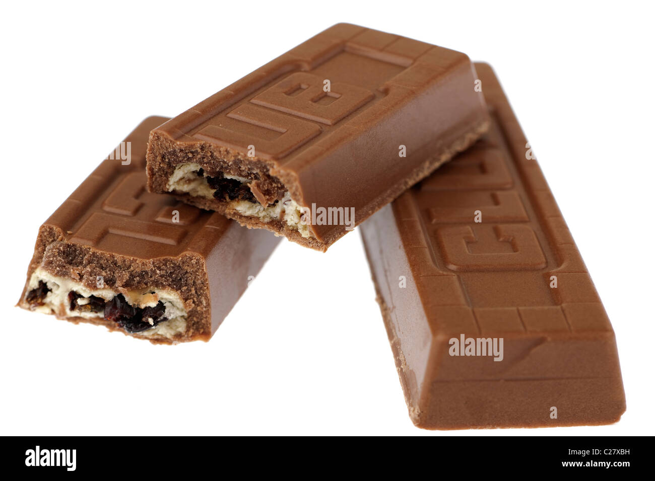 Halved Jacobs Fruit Club Chocolate Biscuit Stock Photo