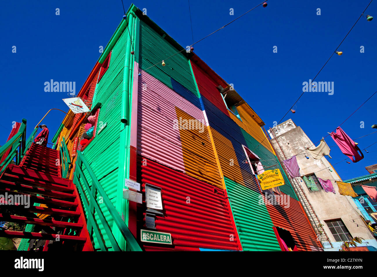Color Plate Houses In The Neighborhood Of Caminito Buenos Aires