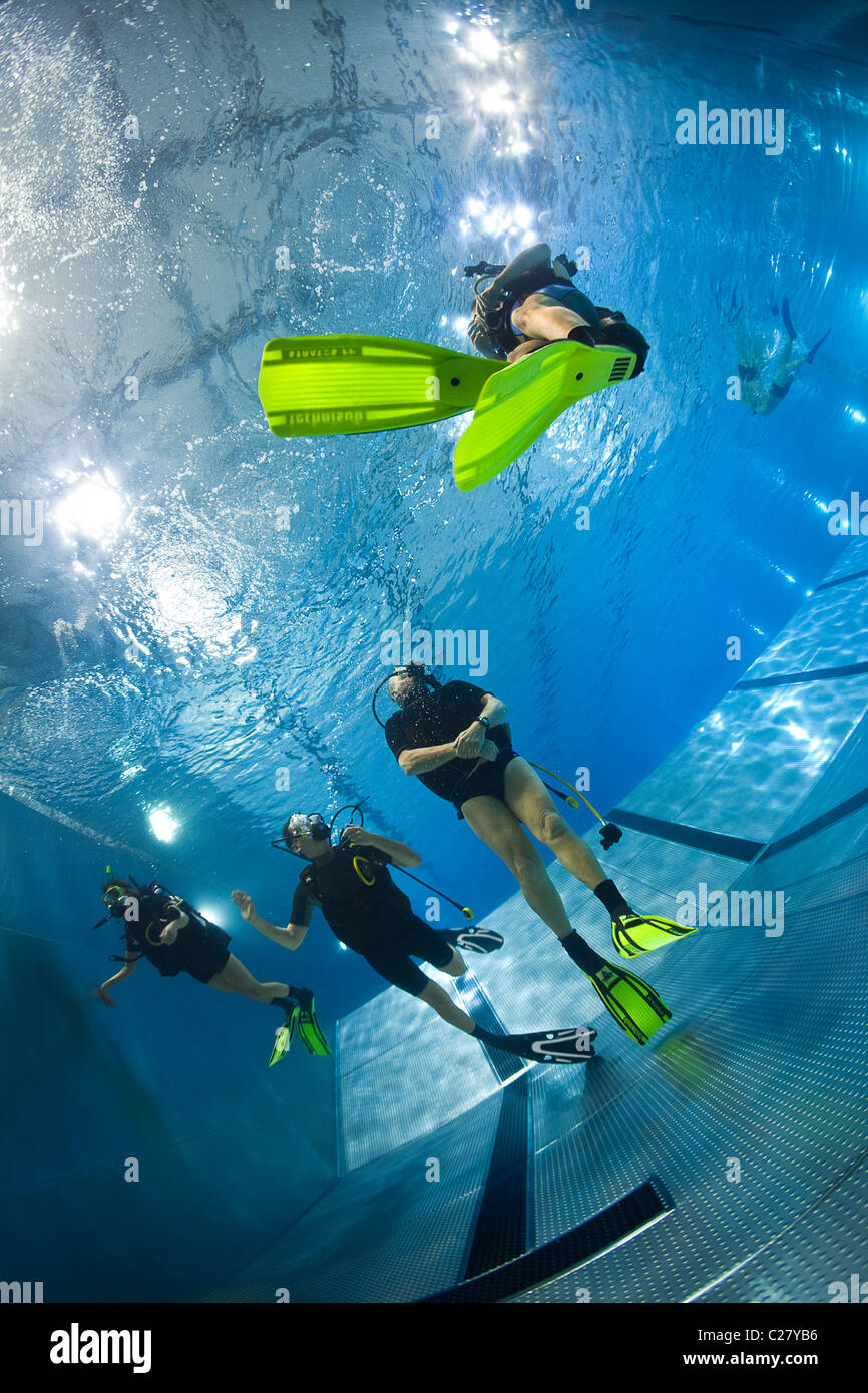 A Scuba Diving Training Session In A Swimming Pool France Stock Photo 35825194 Alamy