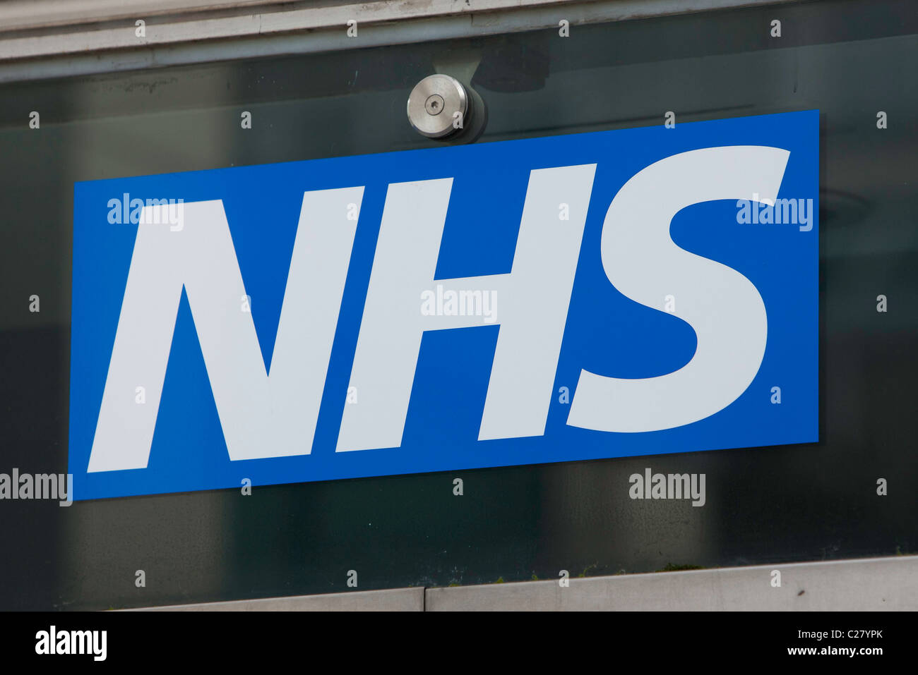 The NHS sign. - Stock Image