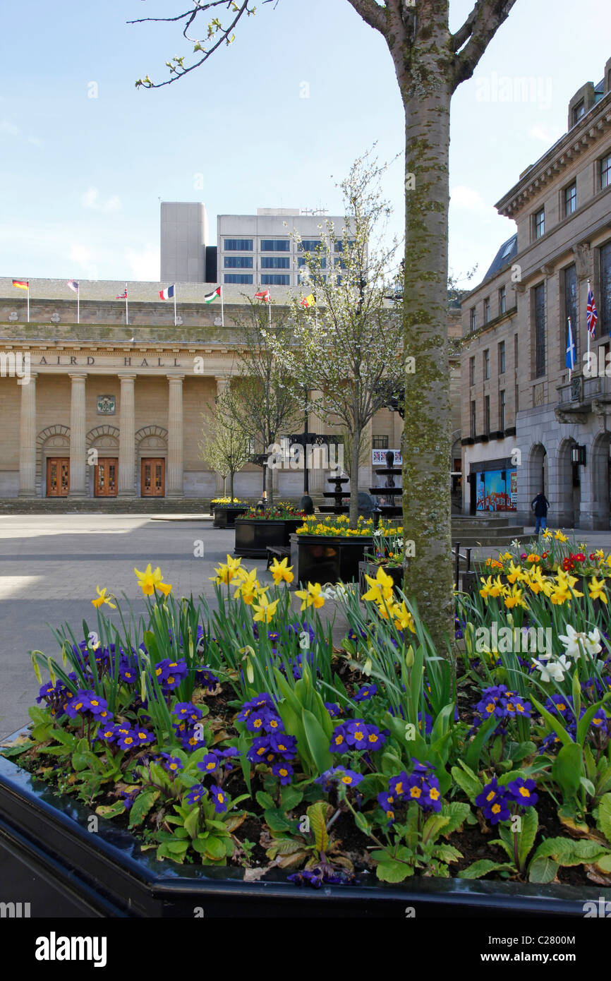 Flower Bed, City Square, Dundee - Stock Image