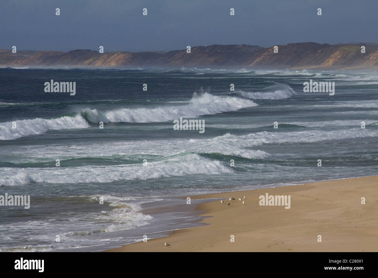 Spectacular California coastline at Monterey Bay, Central California, USA - Stock Image