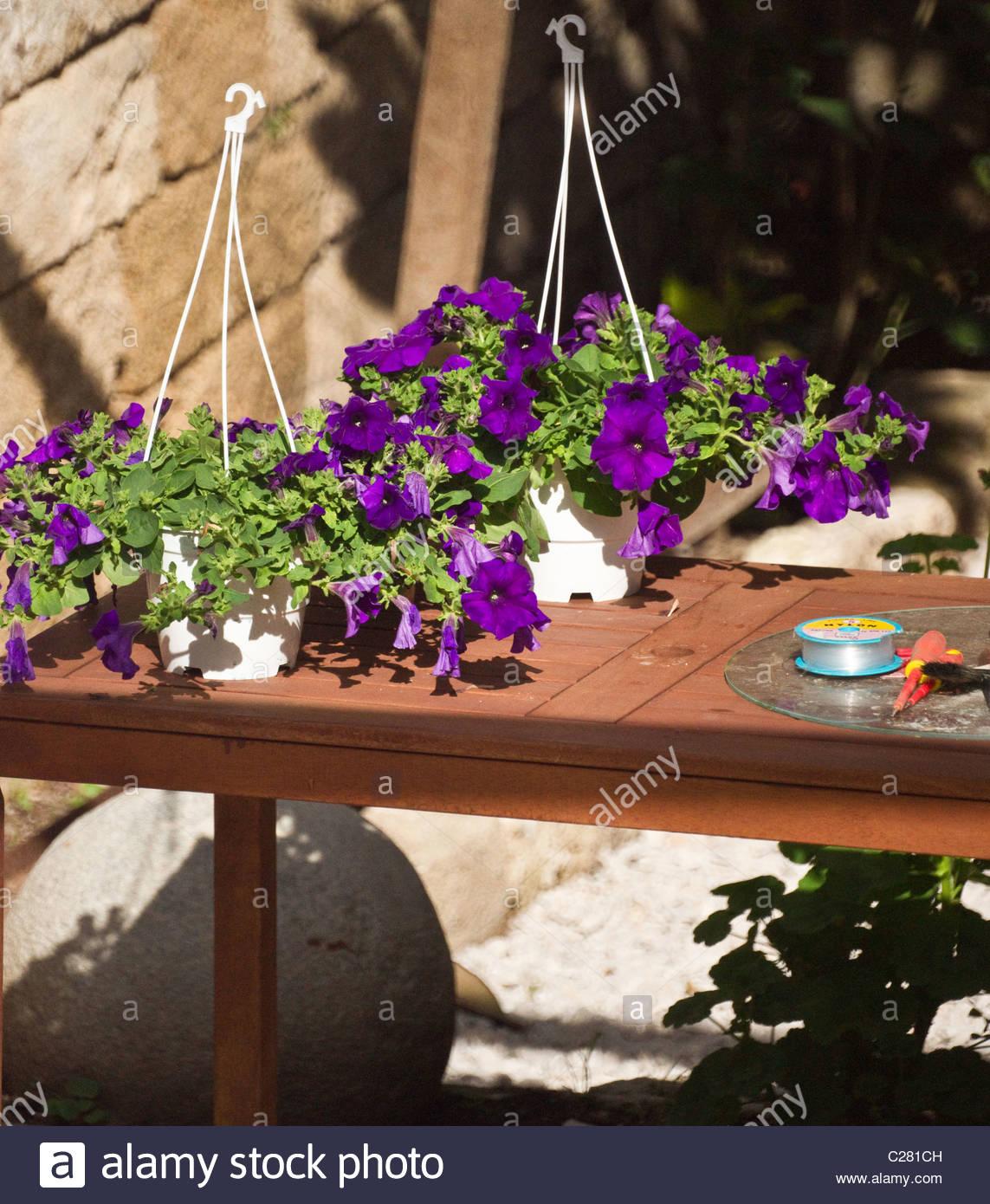 Greek garden furniture flowers greece