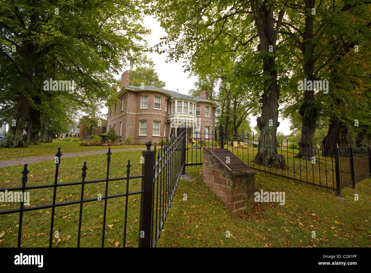 Fairholm estate, built in the 1830s is a national historic building, Charlottetown, Prince Edward Island, Canada - Stock Image