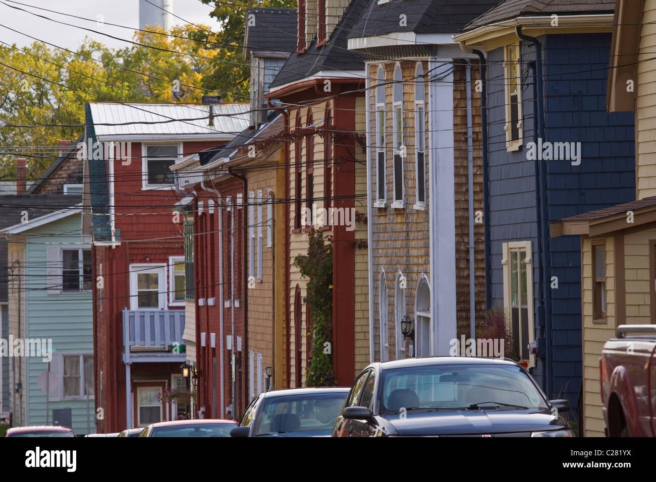 Historic old neighbourhoods in Charlottetown, Prince Edward Island, Canada - Stock Image
