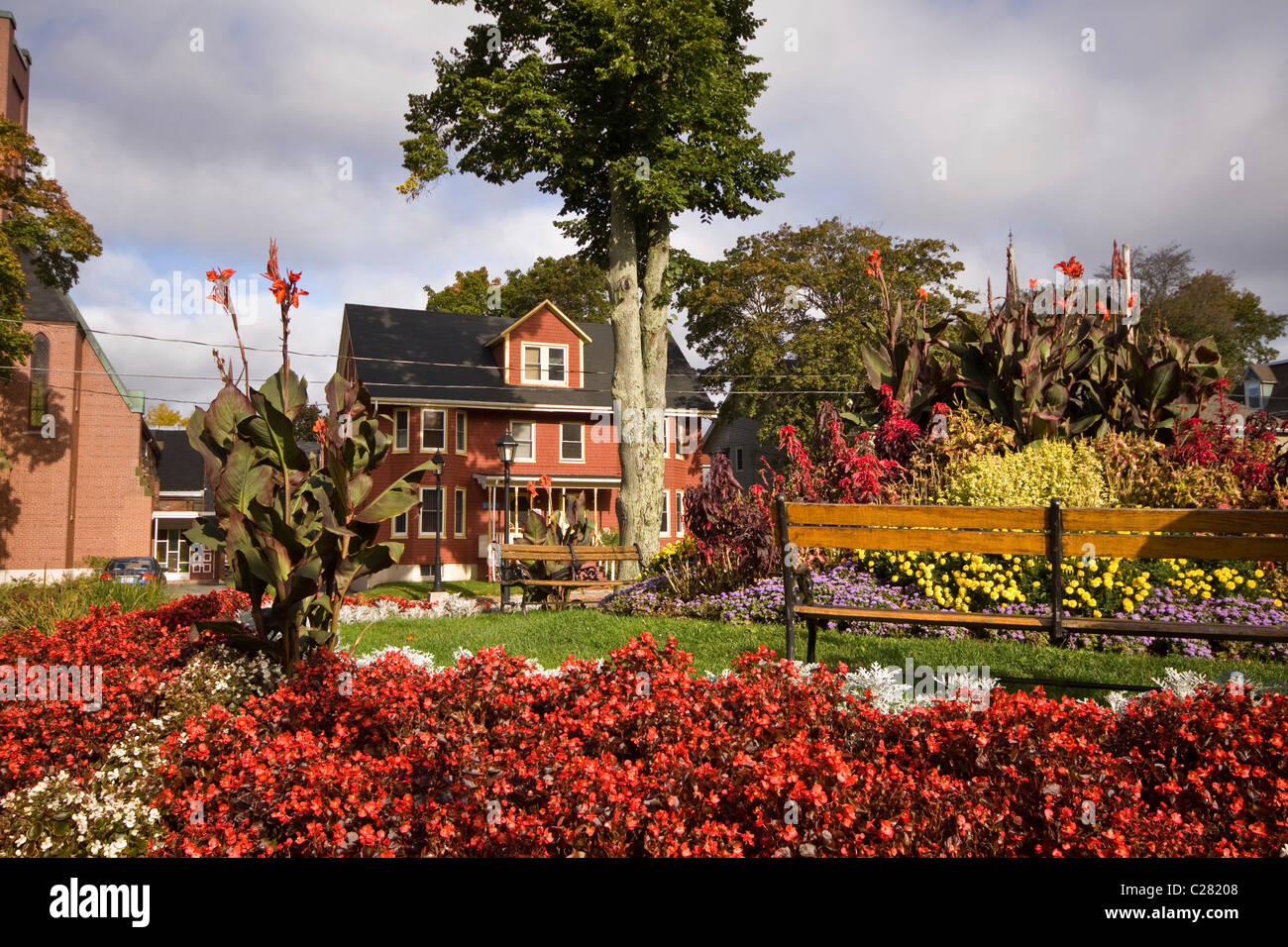 Pretty and historic old neighbourhoods in Charlottetown, Prince Edward Island, Canada - Stock Image